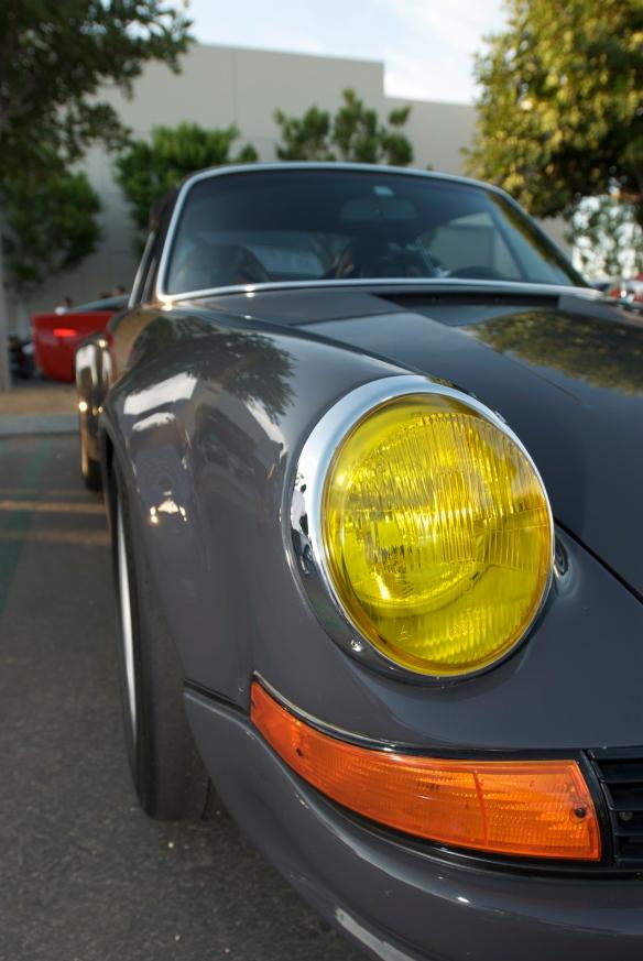 Porsche 911RSR, headlight shot, Cars & Coffee
