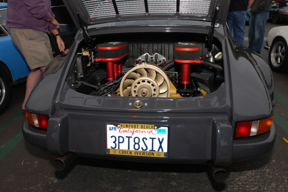 Cars&Coffee, Porsche 911RSR ,license plate _engine shot