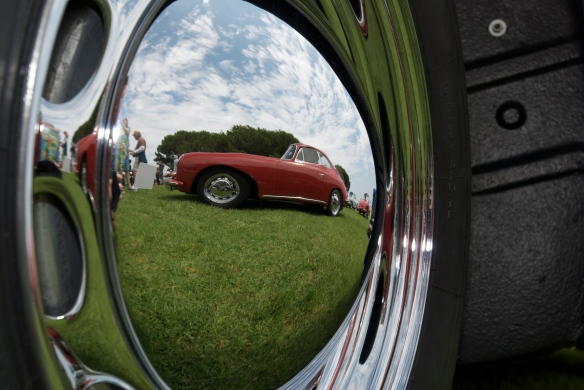 Porsche 356 speedster, hubcap reflection, dana point concours_2011