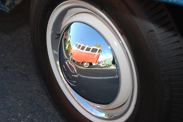 VW bus, wheel reflection, O.C.T.O. winterfest, Feb 2011