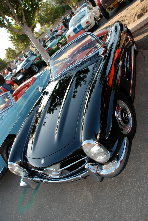 Mercedes Benz 300SL roadster, reflection series, cars & coffee,Irvine_2011