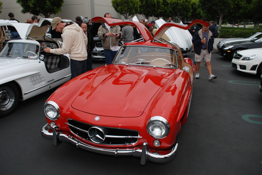 Mercedes Benz 300SL gullwing, reflection series, cars & coffee_2011