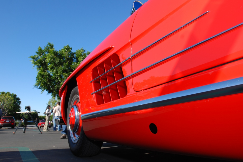 Mercedes Benz 300SL roadster, reflection series, cars &coffee_2011
