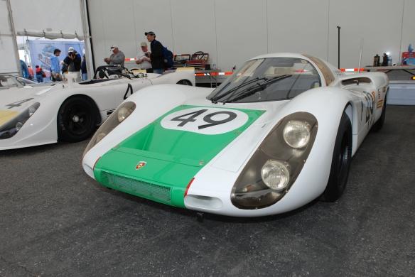 1968 Porsche 907 (#49) and Porsche 908 (#4)_Joe Buzzetta Motorsports_Rennsport Reunion 4_10/16/11