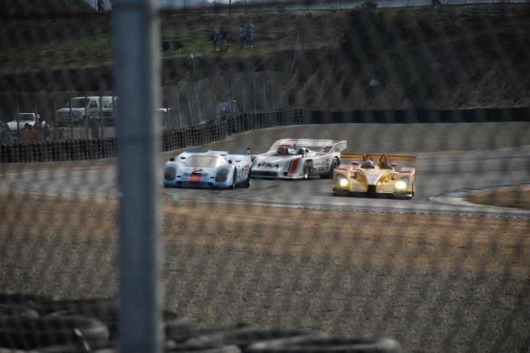 Porsche 917's&RS Spyder_turn 2_Rennsport Reunion 4_10/15/11