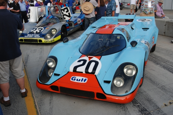 Jerry Seinfeld / Porsche 917K_Pit lane concours_Rennsport  Reunion 4_10/15/11