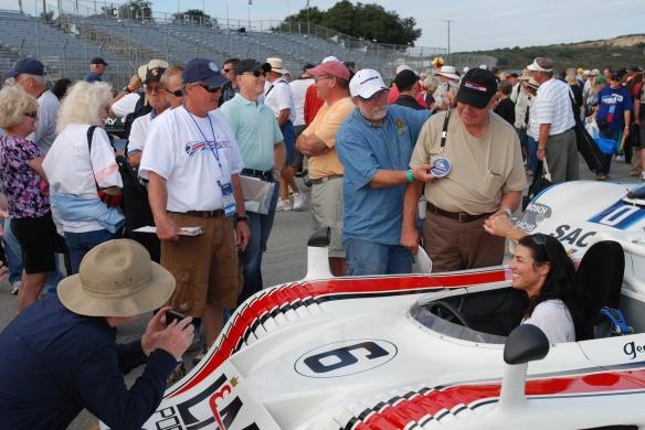 George Follmer_Porsche 917-10_pit lane concours_Rennsport Reunion 4_10/15/11