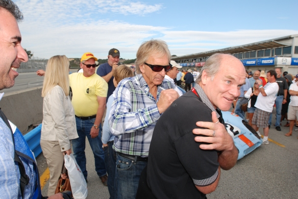 Derek Bell-pit lane concours_Rennsport Reunion 4-10/15/11