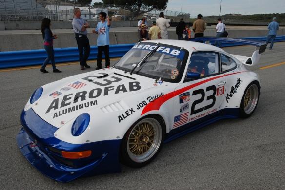 Porsche 911 GT2 Evo_pit lane concours_Rennsport Reunion 4_10/15/11