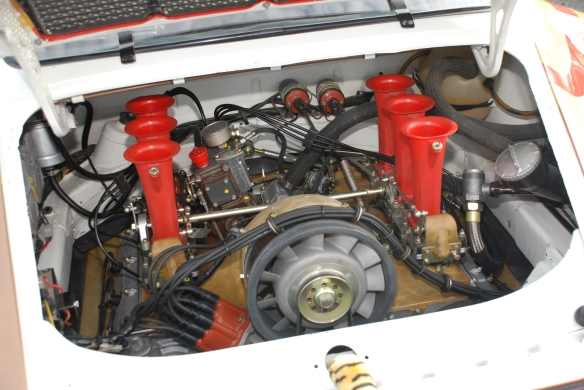 Porsche RSR motor_pit lane concours_Rennsport Reunion 4_10/15/11