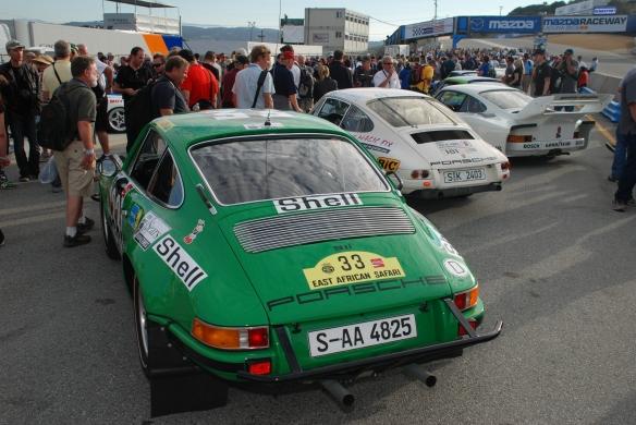 Porsche 911 STR, 911R & 935_pit lane concours_Rennsport Reunion 4_10/15/11