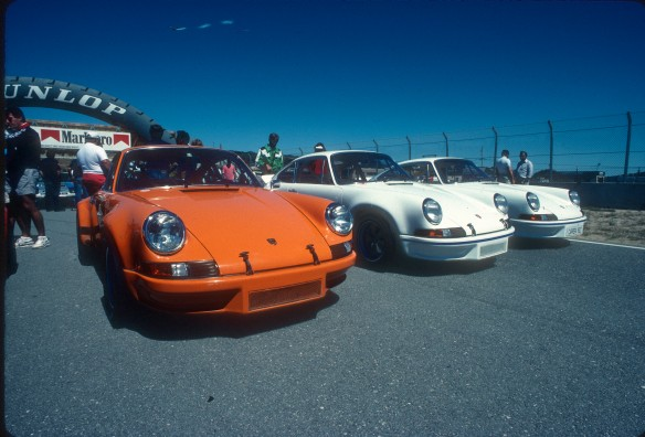 Porsche 911RSR,RS Carrera's at Monterey_Aug90