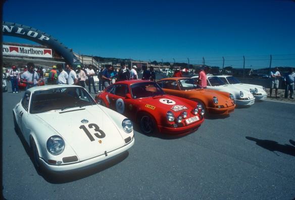 Porsche 911R,ST,RSR,Carrera RS's, Laguna Seca_Aug90