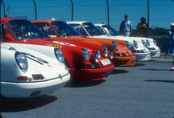 Porsche 911R,ST,RSR,RS Carrera's at Monterey_Aug90