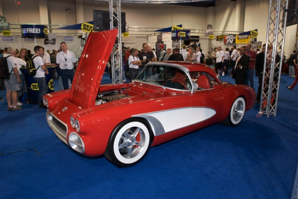 West Coast Customs_Red  retro Corvette_The SEMA Show_11/3/11