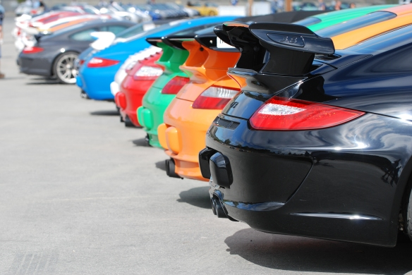 Porsche Corral parking _Rennsport Reunion 4_10/16/11