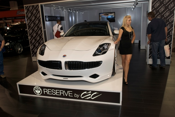 Fisker  @CEC display_THE SEMA SHow_11/3/11