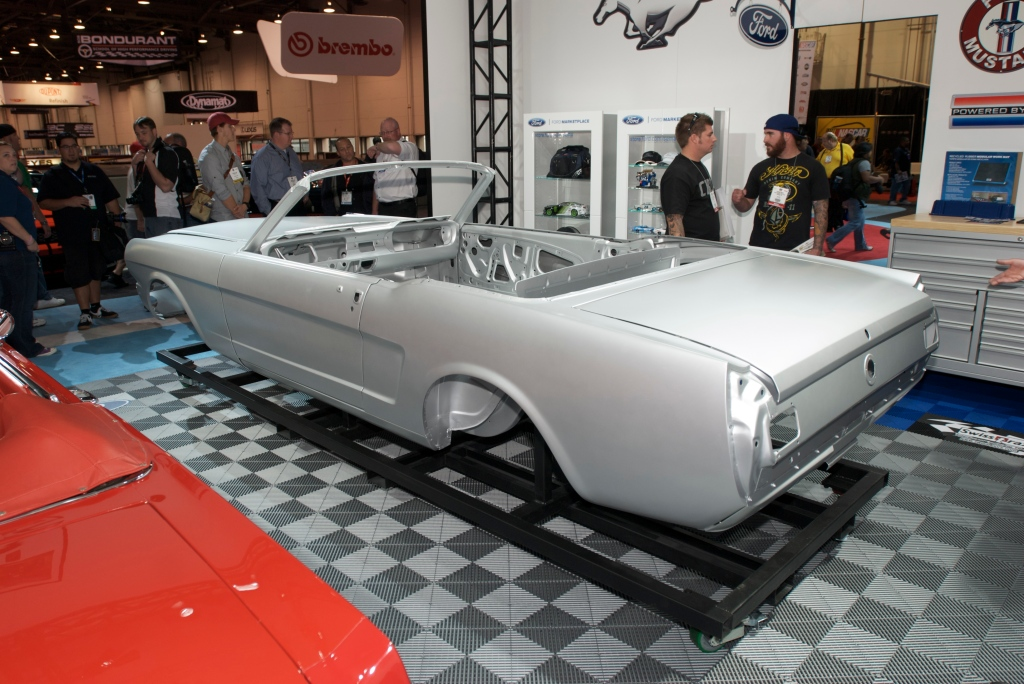 New 1964 Ford mustang convertible body by Dynacor _Ford display_The SEMA Show 2011_11/4/11