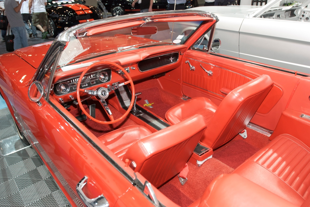 Restored 1964 1/2  mustang convertible_Ford Display_The SEMA Show 2011_11/4/11