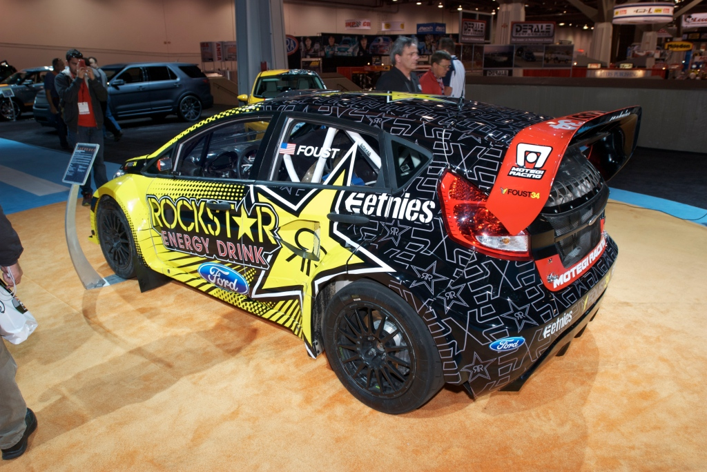 Tanner Foust Ford Focus rallycross car_Ford Display_The SEMA SHow 2011_11/4/11