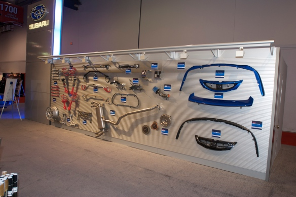 Performance parts wall_Subaru exhibit_The SEMA Show_11/3/11