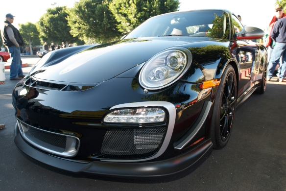 Black 2011 Porsche GT3RS 4.0_Cars&Coffee_11/26/11
