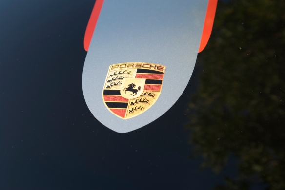 Black 2011 Porsche GT3RS 4.0_hood decal_Cars&Coffee_11/26/11