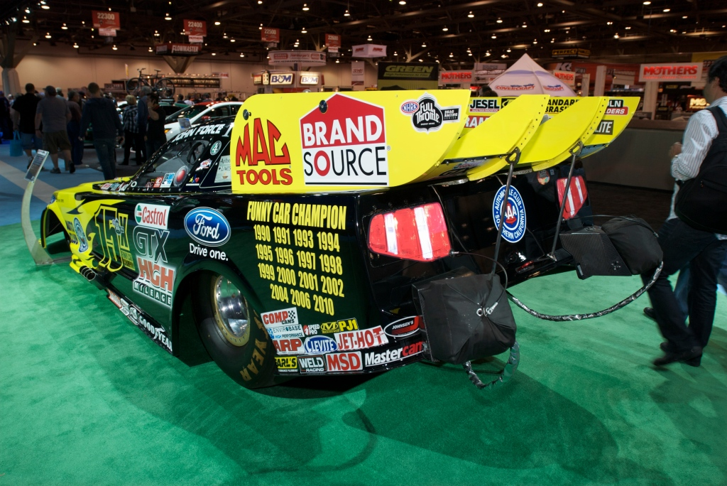 John Force Funny car_Ford display_The SEMA Show 2011_11/4/11