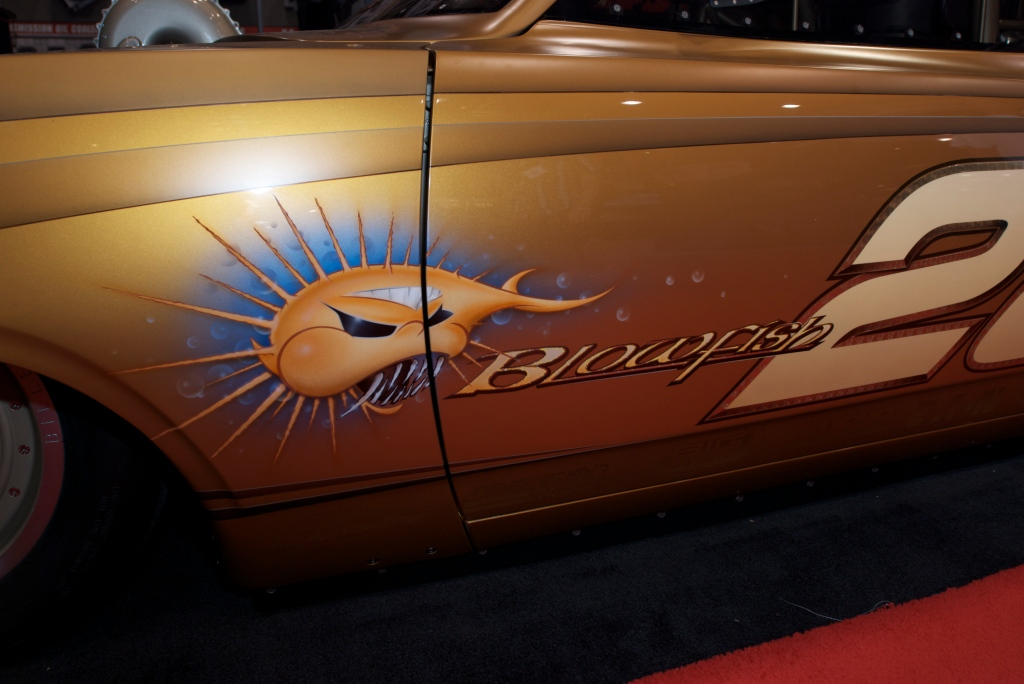 Rad Rides by Troy_Dodge salt flats racer_Blowfish graphic_The SEMA Show 2011_11/4/11