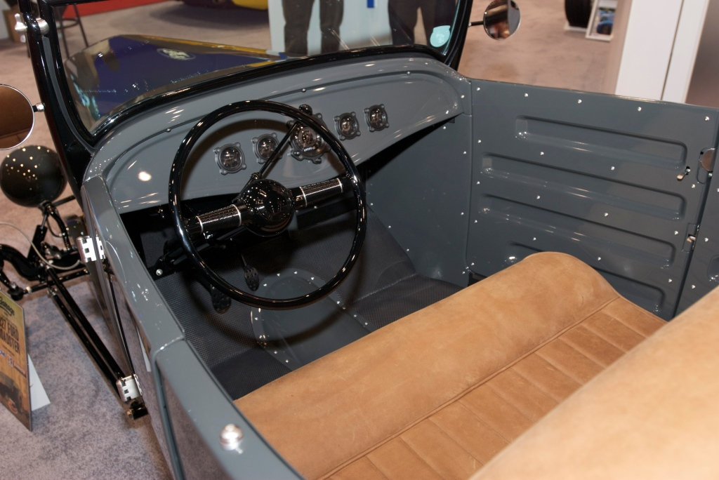 Gray, 1927 Ford roadster_Interior_The SEMA Show 2011_11/4/11
