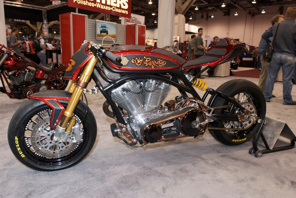 "Roland Sands Design motorcycle_""NO Regrets""_Mothers Display_The SEMA Show 2011_11//4/11"