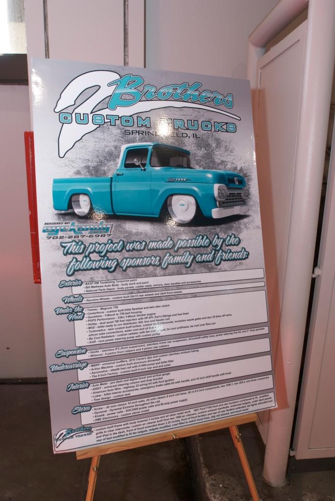 2 Brothers Custom Trucks, F-100_ showcard_The SEMA Show 2011_11/4/11