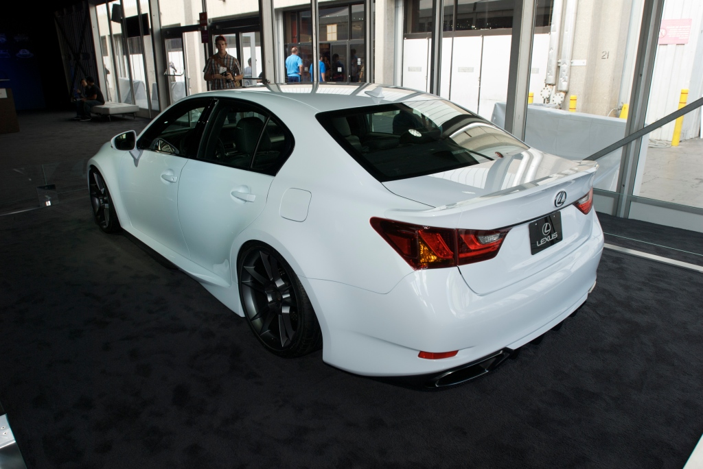 5-Axis, white Lexus IS styling study _The SEMA Show 2011_11/4/11