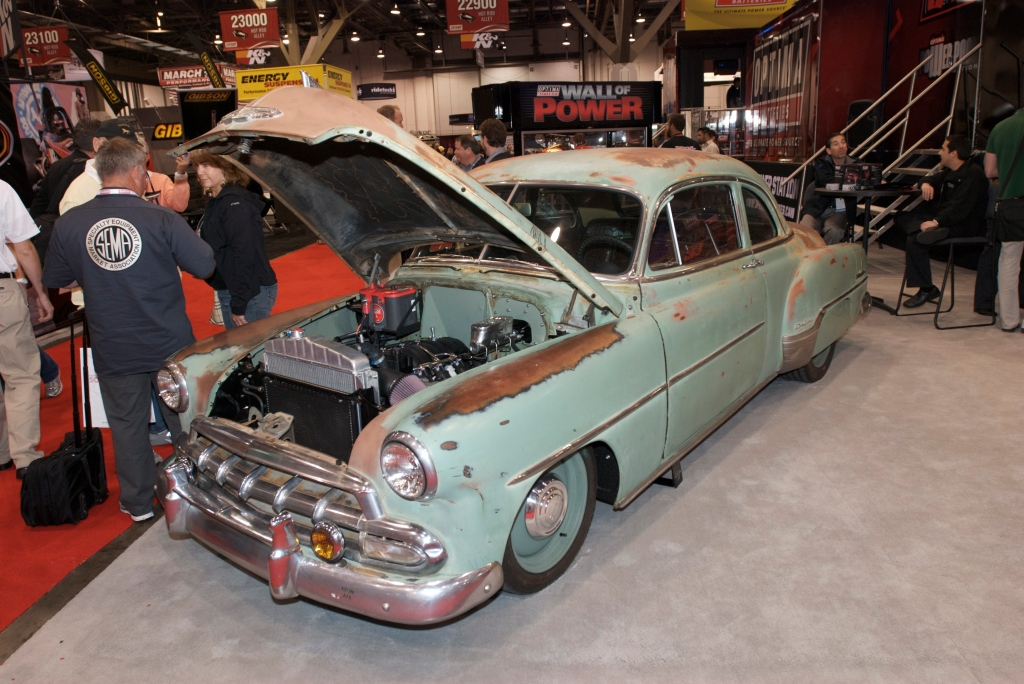 1950's Chevy coupe w/heavy patina_The SEMA Show 2011_11/4/11