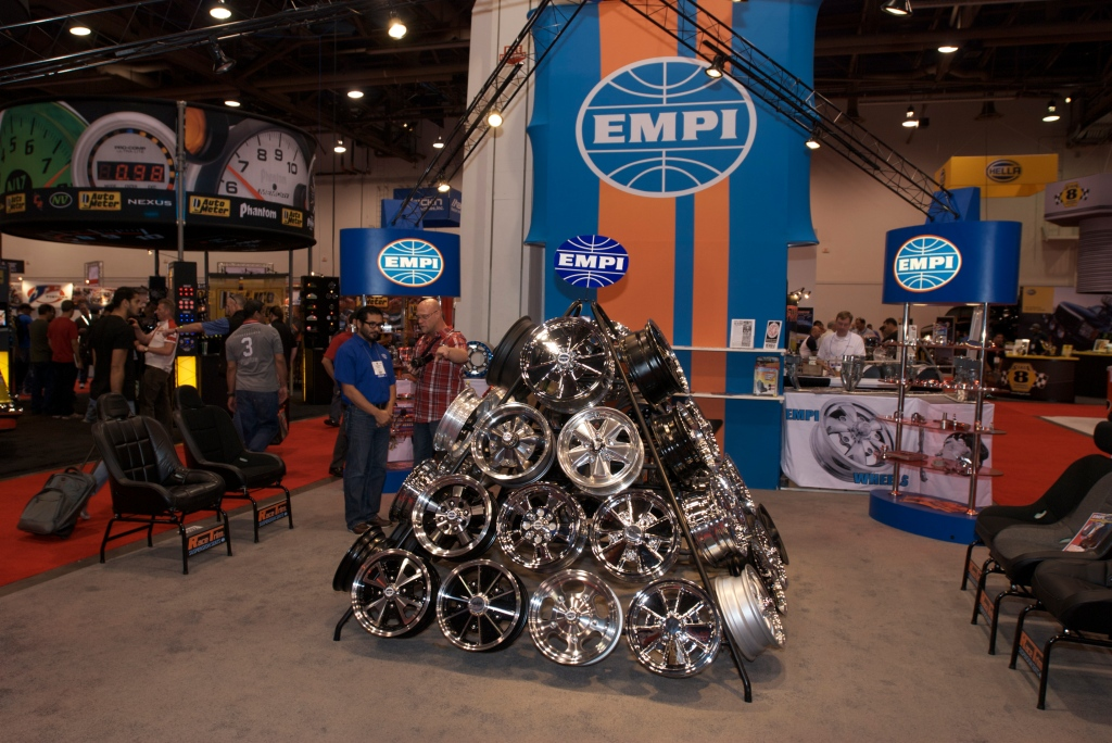 EMPI display_Wheel pyramid_The SEMA Show 2011_11/4/11