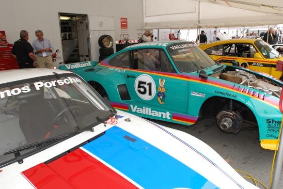 Porsche 935's in paddock_Rennsport Reunion 4_10/16/11