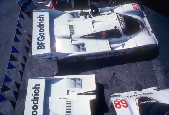 #67 Jim Busby Racing_BFGoodrich Porsche 962_Riverside Raceway _April 1985