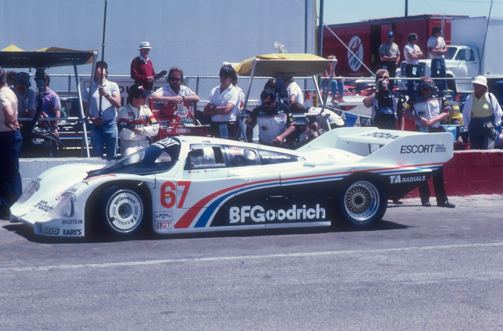 #67 Jim Busby Racing_ Jim Busby,Rick Knoop_BFGoodrich Porsche 962_Riverside Raceway _April 1985