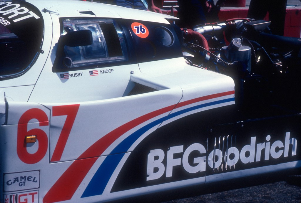 #67 Jim Busby Racing_BFGoodrich Porsche 962_Practice & qualifying_Riverside Raceway _April 1985