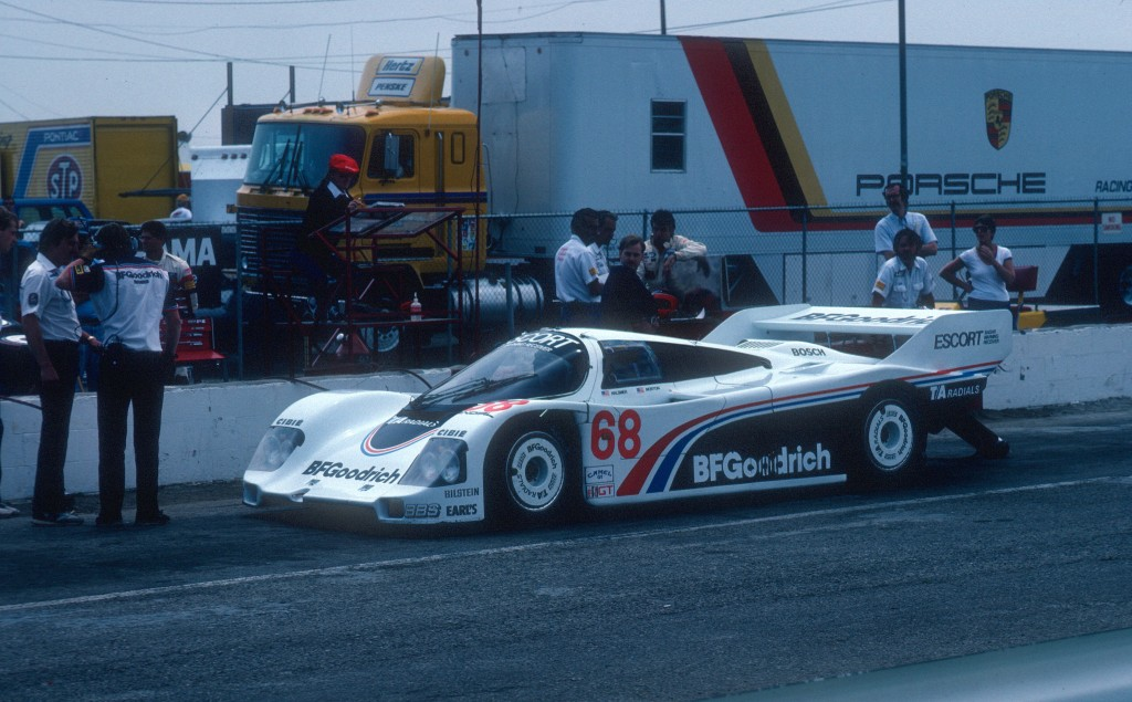 #68 Jim Busby Racing_BFGoodrich Porsche 962's_Practice & qualifying_Riverside Raceway _April 1985