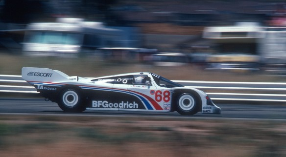 #68 BFGoodrich Porsche 962 _entering turn 8  _Riverside Raceway_April 25, 1985