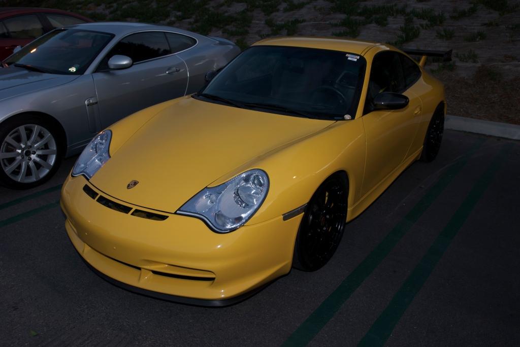 Speed Yellow Porsche 996 GT3_Cars&Coffee/Irvine_12/17/11