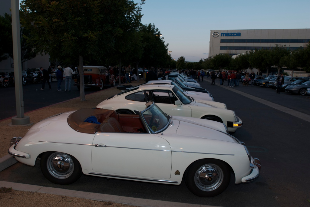 Porsche row_Cars&Coffee/Irvine_12/17/11