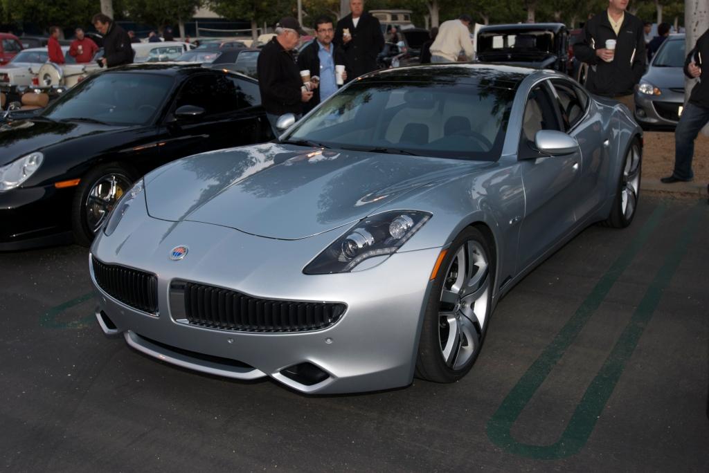 Silver Fisker Karma_Cars&Coffee / Irvine_12/3/11