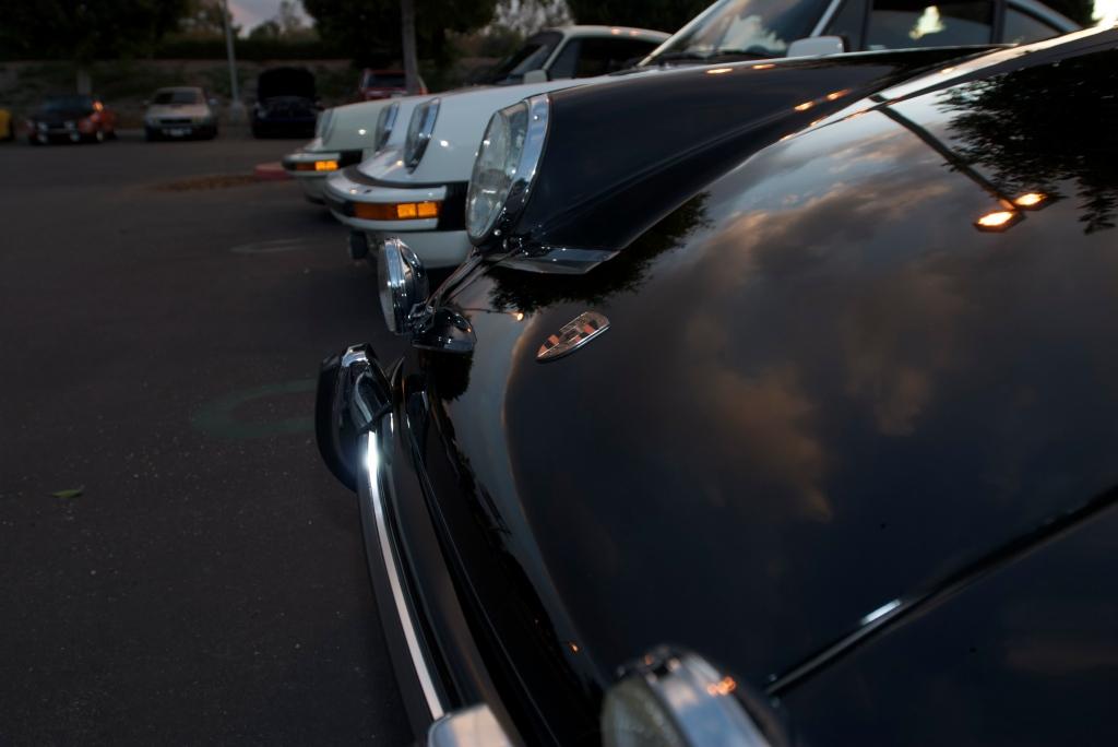 Black 1969 Porsche 911S _ reflections_Cars&Coffee/Irvine_12/17/11