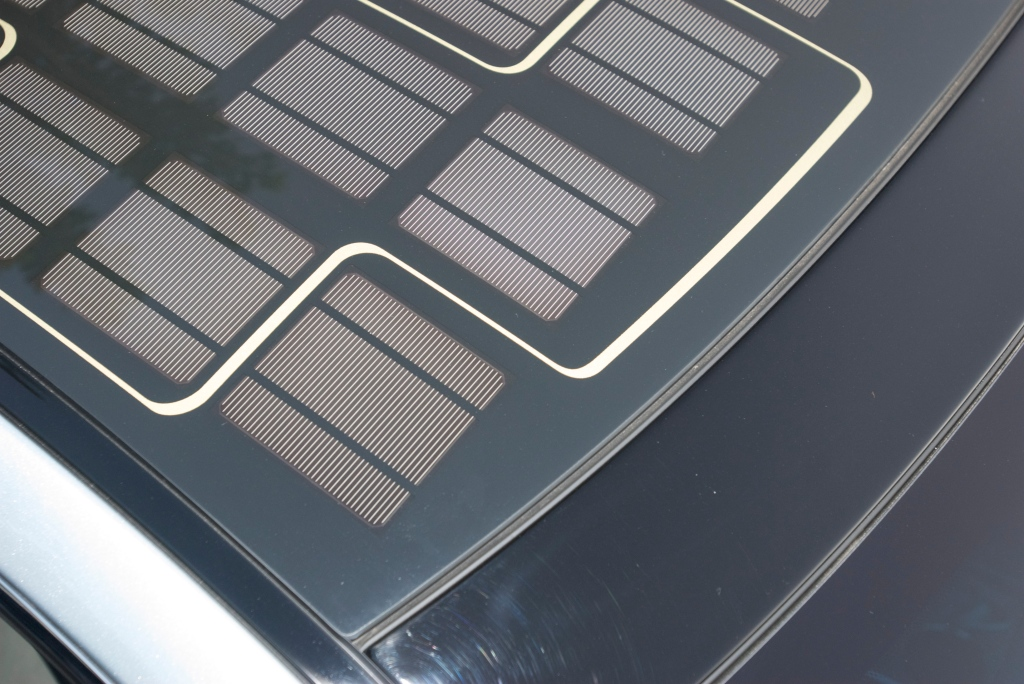 Silver Fisker Karma_solar panels in roof_Cars&Coffee / Irvine_12/3/11
