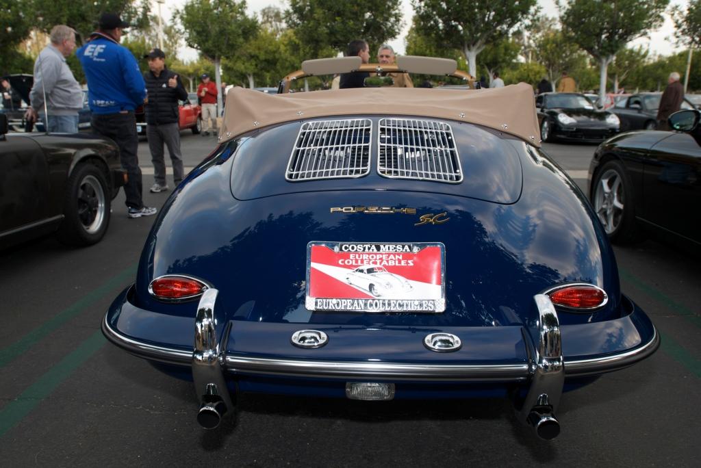 Blue Porsche 356 SC cabriolet_Cars&Coffee/Irvine_12/17/11