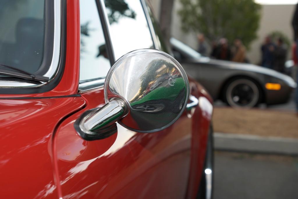 Red Porsche 911S_Mirror Reflection_Cars&Coffee/Irvine_12/17/11