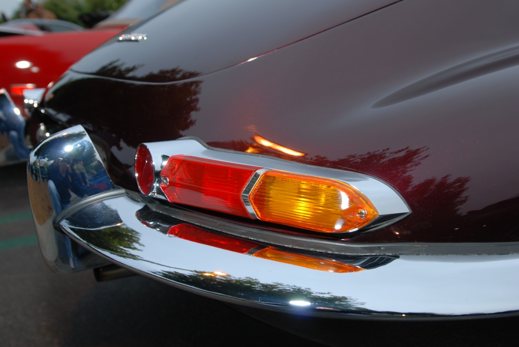Jaguar E type tail light & reflections_Cars&Coffee/Irvine_2011