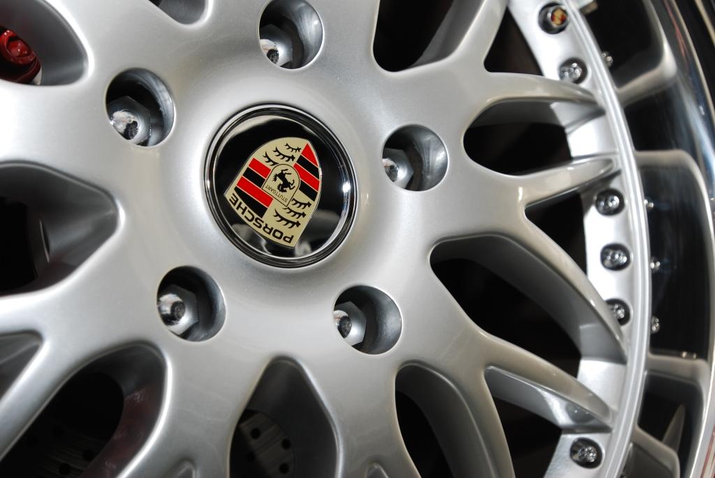 Silver HRE modular wheel on 1984 Porsche 930 turbo_Cars&Coffee/Irvine_2011